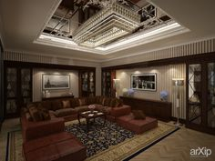 квартира в городе Баку 750 кв.м.: интерьер, зd визуализация, квартира, дом, ар-деко, 50 - 80 м2, кабинет рабочий, интерьер #interiordesign #3dvisualization #apartment #house #artdeco #50_80m2 #officeworker #interior