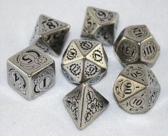 These metal Steampunk RPG dice are made to last