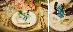 Masquerade Fairy Tale - 20 Wedding Place Setting Ideas to Bring to Your Reception - EverAfterGuide