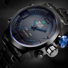Cheap masculino, Buy Quality masculinos relogios directly from China masculino watch Suppliers: Men's Sports Watches Men Luxury Brand Weide Full steel Quartz Army Military LED Watch Clocks Wristwatches Relogio Masculino 2017 Mens Sport Watches, Luxury Watches For Men, Casual Watches, Cool Watches, Men's Watches, Led Watch, Top Luxury Brands, Skeleton Watches, Swiss Army Watches