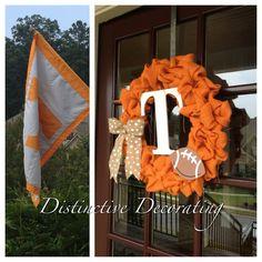 Go Vols!  TN burlap wreath!