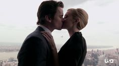 Neal and Sara on top of the Empire State Building - White Collar 4x16