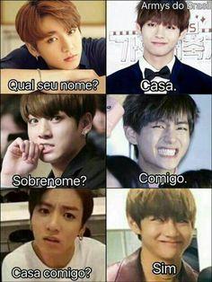 New memes bts portugues jungkook 56 ideas Bts Memes, Bts Meme Faces, Vkook Memes, Funny Memes, Bts Taehyung, Bts Bangtan Boy, Bts Jungkook, Taekook, K Pop