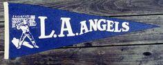 Los Angeles Angels, Pacific Coast League, blue felt pennat.