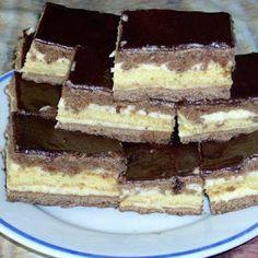 Receptek, és hasznos cikkek oldala: Kakaós-krémes szelet Torte Cake, Death By Chocolate, Hungarian Recipes, Hungarian Food, Kakao, Macaroons, Nutella, Breakfast Recipes, Food And Drink