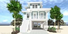 Find your home in our collection of beach house plans. Created by our in-house designers. Beautiful home plans. Beach Cottage Style, Beach Cottage Decor, Coastal Cottage, Coastal Style, Coastal Living, Beach Cottage Exterior, Coastal Farmhouse, Cottage Chic, Beach House Furniture