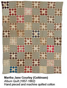 CIVIL WAR ERA QUILTS FROM THE ILLINOIS STATE MUSEUM  is on exhibit at the The Illinois State Museum Chicago Gallery  From June 18-September 14, 2012