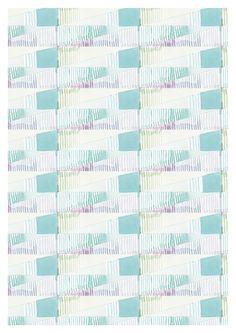 Ana Montiel aqua teal turquoise pale pattern