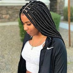 2018 Stunning Box Braid Hairstyles For The Ultimate Protective Style – LushFro. - 2018 Stunning Box Braid Hairstyles For The Ultimate Protective Style – LushFro - Box Braids Hairstyles For Black Women, Try On Hairstyles, Braids For Black Women, Trending Hairstyles, Black Hairstyle, Elegant Hairstyles, Pretty Hairstyles, Birthday Hairstyles, Teenage Hairstyles