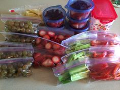 Portioned out to the 21 day fix containers