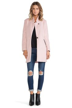 Maison Scotch Classic Tailored Jacket in Light Pink