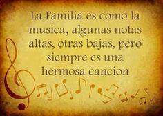 La mejor canción se canta en familia.