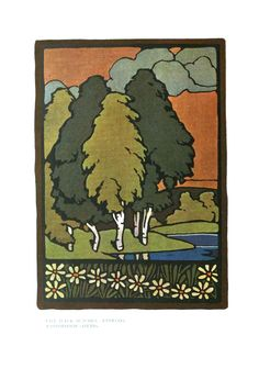 Art – Art nouveau – Landscape illustration – (1) This is a free printable....I want to frame this for the Dining Room Gallery