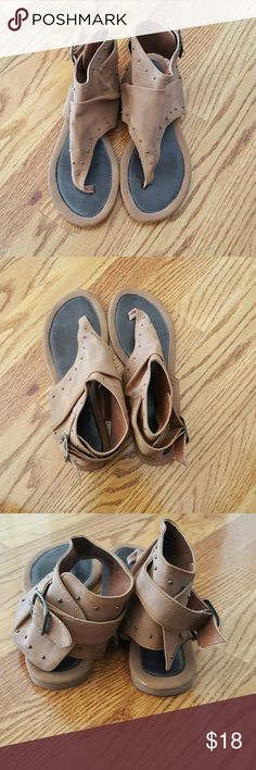 Sandals in new condition. buckles close around the ankle. Claire's Shoes Sandals
