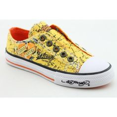 Ed Hardy Lowrise Shine Athletic Sneakers Shoes « Shoe Adds for your Closet