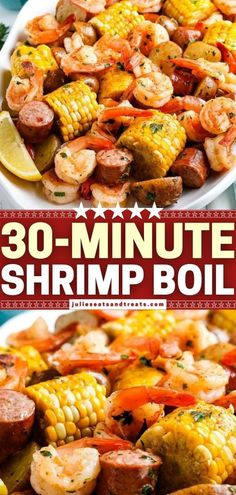 A healthy one-pot meal perfect on weeknights! There is something for everyone in this classic Shrimp Boil with juicy corn, smoked sausage, and baby potatoes. Everything cooks perfectly and is loaded… More Seafood Seasoning, Seafood Boil, Seafood Dishes, Seafood Recipes, Cooking Recipes, Sausage Potatoes, Baby Potatoes, Healthy One Pot Meals, Healthy Recipes