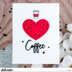 133 Likes, 1 Comments - Studio Katia Coffee Heart, My Coffee, Thanks A Latte, Coffee Cards, Color Card, Happy Anniversary, Spring Crafts, Blank Cards, Hello Everyone