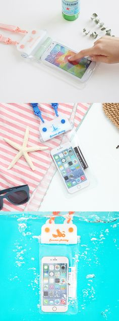 Summer just got so much better because you can easily take your phone & other important items with you underwater! Lock and seal away your things in this trendy and protective waterproof pouch. You can still use your phone while it is in the pouch. That means you can take pictures & upload them while you're snorkeling in Cancun or on the gondola in Venice! Plus, the neck strap will never get tangled due to its ability to spin 360 degrees! Now this is a genius way to travel this year! Bon…