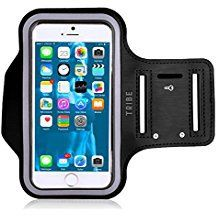 Water Resistant Cell Phone Armband: Inch Case for iPhone SE, and Samsung Galaxy and HTC - Adjustable Reflective Velcro Workout Band, Key Holder & Screen Protector by Tribe Cell Phone Holder, Cell Phone Cases, Iphone Cases, S7 Phone, Outdoor Training, Arm Workout With Bands, Band Workouts, Samsung Galaxy S4, Galaxy S3