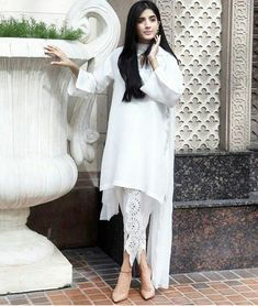White Apparel with Cut work Tulip Pant