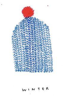 Winter Hat with Pompom Sketch