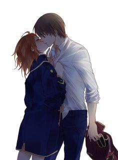 Anime: Gintama Personagens: Okita Sougo e Kagura Manga Anime, Anime Amor, Anime Kiss, Hot Anime, Manga Couple, Anime Love Couple, Anime Couples Drawings, Anime Couples Manga, Manhwa
