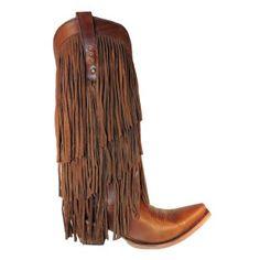 dark brown liberty black fringe boots | Corral Ladies Sierra Tan Fringe Tall Top Cowboy Boot C2700 NIB