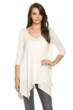 Classic Lightweight Knit Tunic Top Nude
