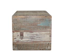 Bianca Cube | Constructed of reclaimed and restored teak planks as well as recycled wood sourced from old buildings and ship yards. #bostoninteriors #storage #reclaimedwood