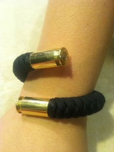 Paracord Bracelet with 45 casing ends...wow.......