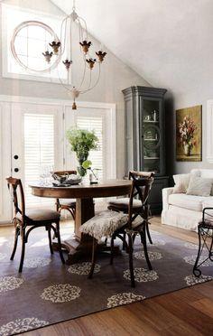 Madeline Weinrib Steel Mandala Cotton Carpet, via House & Home magazine