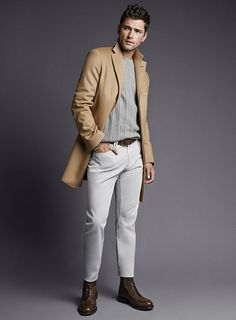 Sean OPry Models Fall 2014 Looks for Massimo Dutti Sean O'pry, Fashion Moda, Men's Fashion, Fashion Menswear, Fashion Poses, Mens Fall, Down South, Best Mens Fashion, Fall Winter 2014