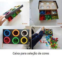 caixa para seleção de cores
