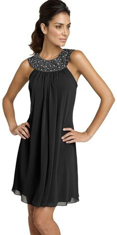 Js Boutique Beaded Chiffon Trapeze Dress in Gray (spiced gunmetal) - Lyst Beaded Chiffon, Chiffon Dress, Dress Skirt, Dress Up, Casual Dresses, Short Dresses, Fashion Dresses, Cute Bridesmaid Dresses, Bridesmaids