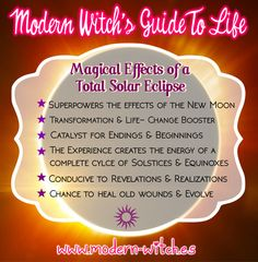 """I don'tMagical know if  """"Effects"""" is the right word but this list are spells most likely to be successful during a Total Solar Eclipse."""