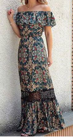 Bohemian maxi dress, boho style clothing, boho-chic clothes, gypsy summer long dress on boho boutique 30 Outfits, Mode Outfits, Cute Dresses, Beautiful Dresses, Summer Dresses, Long Casual Dresses, Summer Outfits, Awesome Dresses, Dresses Dresses