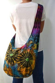 Atlantic Sunrise Tie Dyed Hippie Hobo Boho Cross Body Bag Messenger Purse K027. $9.99, via Etsy.