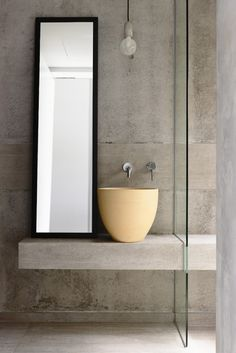 concrete cantilever bathroom washstand