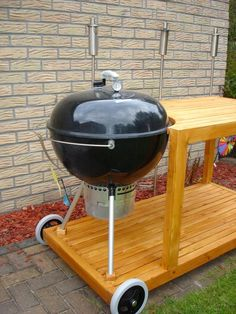 Table Bbq, Diy Table, Weber Bbq, Weber Grills, Diy Grill, Barbecue Grill, Outdoor Grill Station, Infrared Grills, Grill Cart