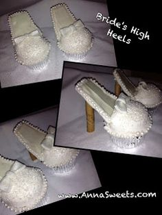 High Heel Cupcakes have these be the bride's and the rest be in the color of the bride's maids dresses :) cute for a bridal shower!
