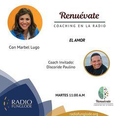 HOY Martes 11am RENUEVATE COACHING EN LA RADIO...estamos online por la aplicación Tune In desde tu celular o por http://ift.tt/1Abi79t o por http://ift.tt/1F8bzd1.  Marbel Lugo hoy con el tema El Amor No te lo pierdas! Puedes escuchar los programas anteriores en ivoox-> podcasts-> renuevate coaching en la radio.  Síguenos en las redes: Instagram/Facebook- Renuevate Coaching en la Radio Twitter- Renuevatedo #sanvalentin @dioscoridepaulino