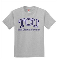Texas Christian Horned Frogs NCAA Grey Youth T-shirt