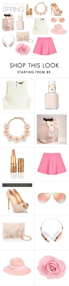 """""""Spring"""" by anarosa23604 ❤ liked on Polyvore featuring TIBI, Essie, J.Crew, Abercrombie & Fitch, tarte, RED Valentino, Ray-Ban, Rebecca Minkoff, Frends and August Hat"""