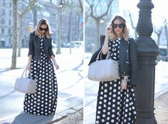 Dots maxi dress by fashion blogger Monica Sors