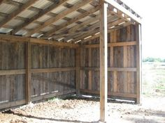 Project: 3 Side Horse Shelter w/ PICS