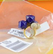 94daf55be Kate Spade NEW YORK gold and blue Pop Rocks cluster Ring size 7