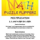 Students will love this fun math puzzle while working on multiplication skills at the same time! Students mix the puzzle pieces and then match each...