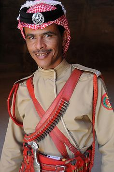 Bedouin police officer . Petra, Jordan   - Explore the World with Travel Nerd Nici, one Country at a Time. http://TravelNerdNici.com