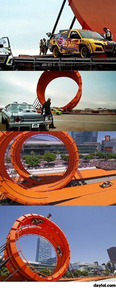 Hotwheels real life track - DayLoL.com - Your Daily LoL!