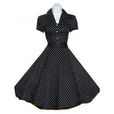 Vintage dress - blk